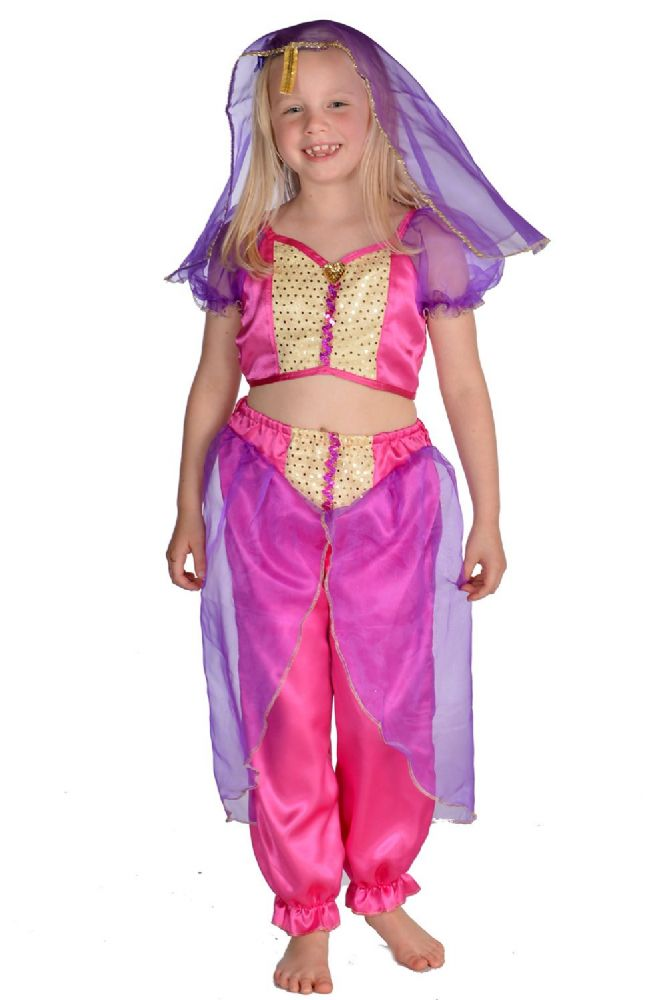 Children S Kids Girls Jasmine Arabian Princess Fancy Dress